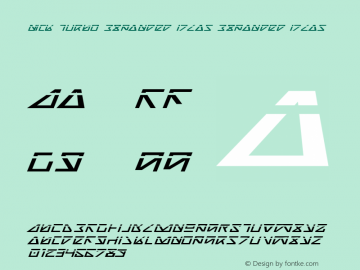 Nick Turbo Expanded ItLas Expanded ItLas 1 Font Sample