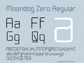 Moondog Zero Regular 1.0图片样张