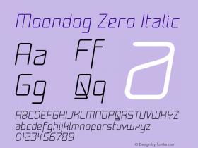 Moondog Zero Italic 1.0图片样张