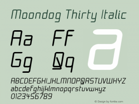 Moondog Thirty Italic 1.0图片样张