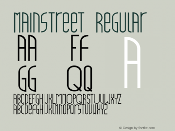 mainstreet Regular 001.000 Font Sample