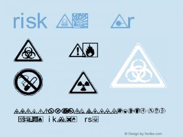 risk Regular Version 1.00 September 25, 2004, initial release Font Sample