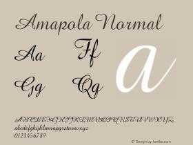 Amapola Normal Macromedia Fontographer 4.1.5 2/11/99图片样张