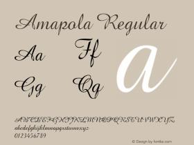 Amapola Regular Version 001.000图片样张