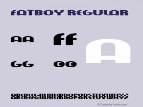 fatboy Regular 001.000图片样张