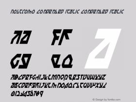 Nostromo Condensed Italic Condensed Italic 1图片样张