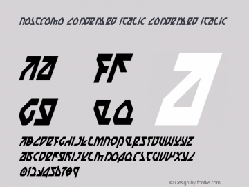 Nostromo Condensed Italic Condensed Italic 1 Font Sample