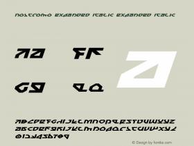 Nostromo Expanded Italic Expanded Italic 1图片样张