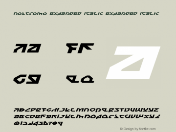 Nostromo Expanded Italic Expanded Italic 1 Font Sample