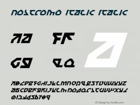 Nostromo Italic Italic 1图片样张