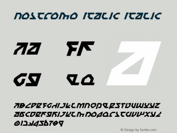 Nostromo Italic Italic 1 Font Sample