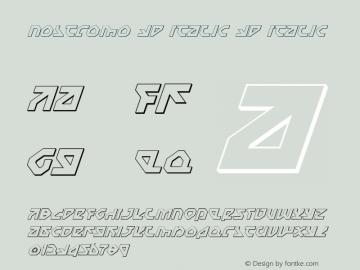 Nostromo 3D Italic 3D Italic 1图片样张