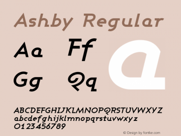 Ashby Regular 1.0 Font Sample