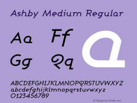 Ashby Medium Regular 1.0图片样张
