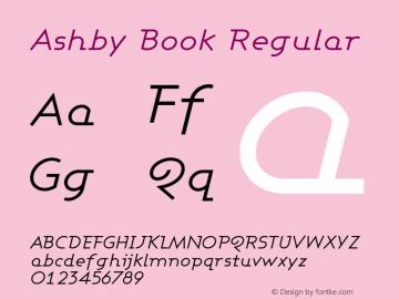 Ashby Book Regular 1.0 Font Sample