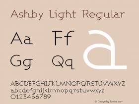 Ashby Light Regular 1.0图片样张
