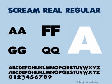 Scream Real Regular OTF 1.000;PS 001.001;Core 1.0.29图片样张