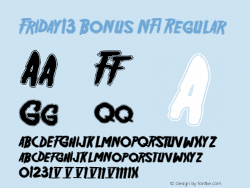 Friday13 Bonus NFI Regular 1.1 Font Sample