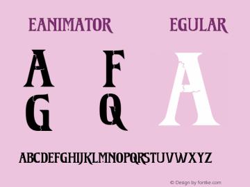 Reanimator DEMO Regular OTF 1.000;PS 001.000;Core 1.0.29 Font Sample