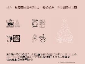 KR Christmas 2001 Regular Macromedia Fontographer 4.1 12/23/01 Font Sample