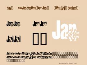 KR Calendar Regular Macromedia Fontographer 4.1 12/23/01图片样张