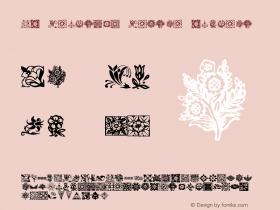 KR Fleurish Floral Regular Macromedia Fontographer 4.1 12/24/01图片样张