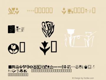 KR Tulips Regular Macromedia Fontographer 4.1 12/24/01图片样张