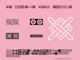 KR Fleurish Deco Regular Macromedia Fontographer 4.1 12/24/01图片样张