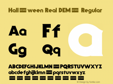 Halloween Real DEMO Regular 1.2 Font Sample
