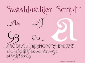 Swashbuckler Script Macromedia Fontographer 4.1 12/25/01图片样张