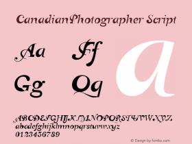 CanadianPhotographer Script Macromedia Fontographer 4.1 12/24/01图片样张