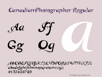 CanadianPhotographer Regular 001.000图片样张