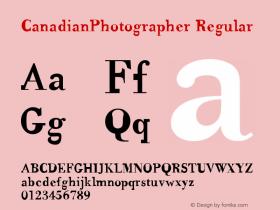 CanadianPhotographer Regular 001.000图片样张