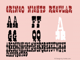 Gringo Nights Regular 2001; 1.0, initial release图片样张