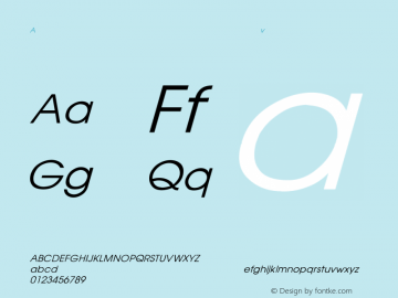 AvantGarde Italic Converted from D:\FONTTEMP\AVANTGAR.TF1 by ALLTYPE Font Sample