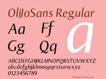 OliJoSans Regular 1.0 Font Sample