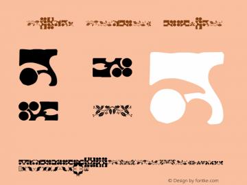 Holiday Borders Regular Macromedia Fontographer 4.1.4 12/7/01图片样张