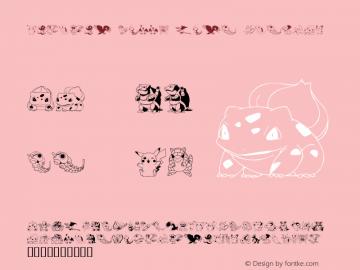 Pokemon Kiddy Ding Regular Macromedia Fontographer 4.1 2001-12-27 Font Sample