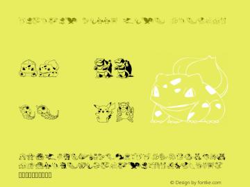 Pokemon Kiddy Ding Regular Version Macromedia Fontograp Font Sample