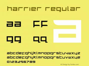 Harrier Regular 1 Font Sample