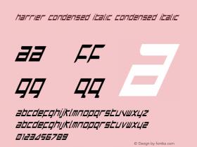 Harrier Condensed Italic Condensed Italic 1图片样张