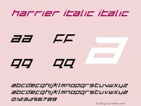 Harrier Italic Italic 1图片样张