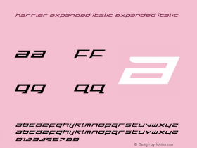 Harrier Expanded Italic Expanded Italic 1图片样张
