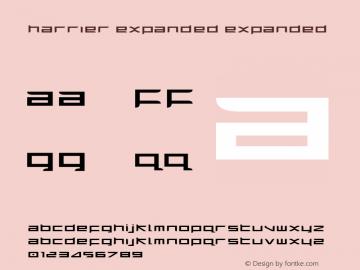 Harrier Expanded Expanded 1 Font Sample