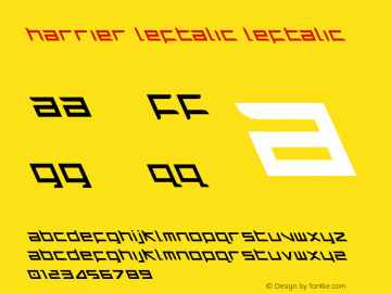 Harrier Leftalic Leftalic 1 Font Sample