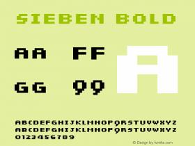 sieben Bold Macromedia Fontographer 4.1 28.12.2001图片样张