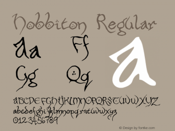 Hobbiton Regular 001.000 Font Sample
