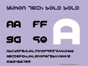 Yukon Tech Bold Bold 1 Font Sample