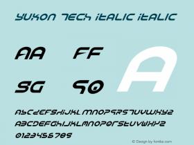 Yukon Tech Italic Italic 1图片样张