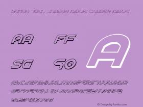 Yukon Tech Shadow Italic Shadow Italic 1图片样张
